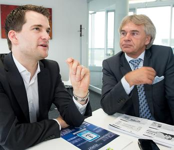 Johannes Vogel, arbeitsmarktpolitischer Sprecher der FDP, sprach mit iGZ-Hauptgeschäftsführer Werner Stolz (r.) über aktuelles Themen der Zeitarbeitsbranche