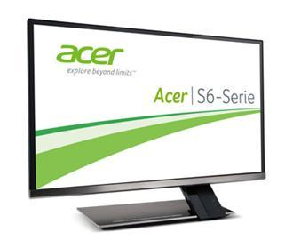 Acer S6-Serie: Ultraschlankes, stylishes Zero-Frame IPS-Display mit MHL-Anschluss