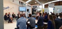 Heute Telematik-Talk um 14 Uhr! Telematics VIP-Lounge im Zentrum der NUFAM in Halle 3 – Wir freuen uns auf Ihren Besuch! Bild: Mediengruppe Telematik-Markt.de