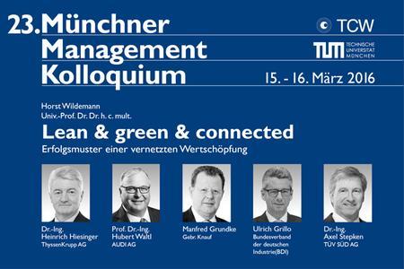 Münchner Management Kolloquium im März 2016