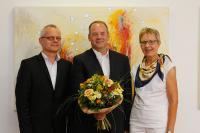 Einer der neuen Professoren: Prof. Dr. Peter Schulte (Mitte) mit HSW-Präsident Prof. Dr. Hans Ludwig Meyer und HSW-Vizepräsidentin Susanna Prasuhn.