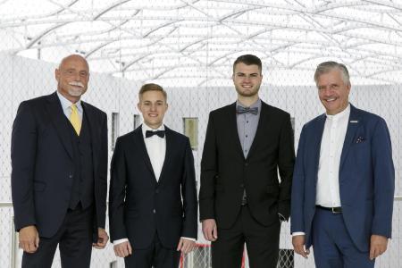 von links nach rechts: Albert K.O. Schunck, Johannes Stahler, Marc Bernhardt, Heinrich Kerstgens