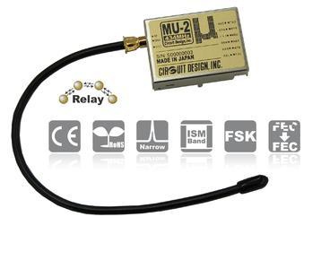 Ab sofort in Europa verfügbar: das integrierte Low-Power-Funkmodem MU-2-R des japanischen Funkmodulspezialisten Circuit Design, Inc.