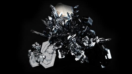 Osmium Kristall, formlos gewachsen