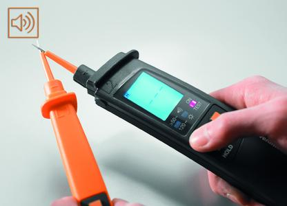 Weidmüller voltage testers: The second-generation voltage testers can be used to test voltage and continuity both visually and acoustically (buzzer function)