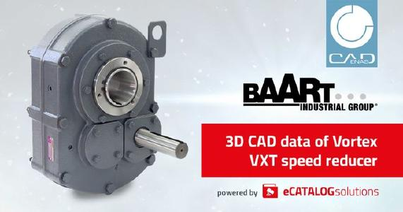 Baart Industrial Group launch product configurator for Vortex VXT series speed reducers powered by CADENAS