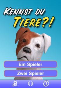 Kennst du Tiere? - Startscreen