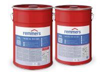 Die 3in1-Produkte für die Spritzapplikation sind Isoliergrund, Zwischen- und Schlussbeschichtung in einem / Bildquelle: Remmers, Löningen