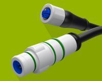 Der neue M12-Powerstecker für Gleich- und Wechselstrom von Eisele wird verwendet um Geräte sicher mit hoher Leistung zu versorgen