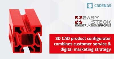 Easysteck combines customer service with digital marketing through 3D CAD product configurator powered by CADENAS