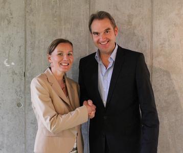 Petra Greiffenhagen, Vorstandsvorsitzende des VOI und Dr. Oliver Grün, Vorstandsvorsitzender des BITMi