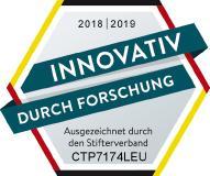 """Logo """"Innovativ durch Forschung"""" für bluechemGROUP"""