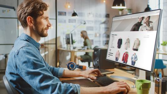 Einkaufen im Onlineshop