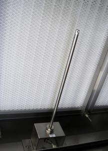 Ceiling mounting of SS 20.415, straight sensor with 300 mm