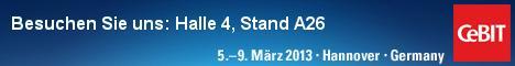Sehen Sie auf der CeBIT in Hannover von 05.03.2013 bis 09.03.2013 das neue Release YAVEON ProBatch 4.00. Sie finden uns sowohl auf dem Microsoft-Stand in Halle 4, A26 als auch auf dem Stand von d.velop in Halle 3, H20