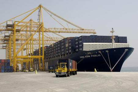 Crane motors at work on a container terminal. Photo: Liebherr Container Cranes
