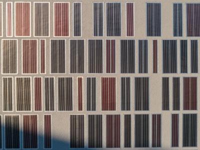 Warmgedämmte Fassade mit einem klassischen WDVS und einer OPV-basierten, flexiblen Putzfliese, eingearbeitet in die Putzoberfläche ©OPVIUS GmbH