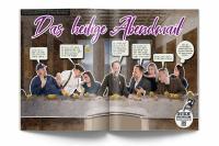 Auch Da Vincis Abendmahl stellte das Kundenberatungsteam von Briefodruck nach. Bild: Briefodruck