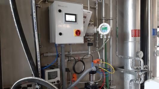 Anwendung EXmatic470 Abwasserbehandlung