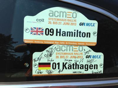 Dokumente einer aufregenden Zeit – Die Rallyeschilder der acmeo Systemhaus Rallye 2013