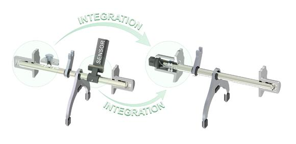 The level of integration can be further increased by implementing a sensor in the detent bearing if the gear position of the gearshift fork also has to be detected and the shift travel measured