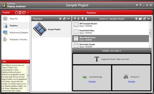 FrontFace Display Assistant (Screenshot)