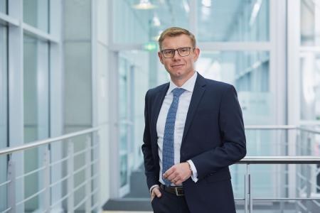 """""""Mit Engineering Base zur rechten Zeit am rechten Ort"""" Uwe Vogt, Aucotec-Vorstand (Quelle: AUCOTEC AG)"""