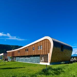 Eines der aufsehenerregenden Bauprojekte der Wohnbaugruppe Ennstal im österreichischen Liezen