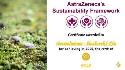 Gerresheimer receives sustainability award from AstraZeneca also for 2020