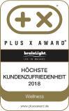 """Die Plus X Award-Auszeichnung für die """"Höchste Kundenzufriedenheit"""" ging in diesem Jahr auch an die brainLight GmbH"""