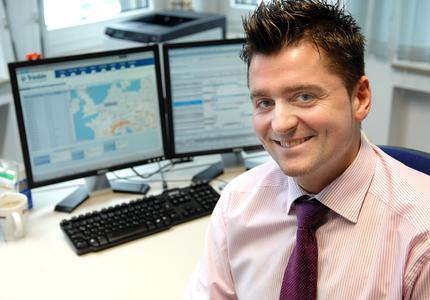 André Zöffel, Leiter Logistik der Spedition Klaeser aus Herten