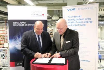 BMZ Group and VDE sign strategic partnership in the field of battery technology