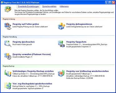 Screenshot: Registry_First_Aid_7_Platinum_s1