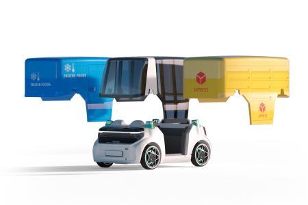 Die Technikplattform des Schaeffler Mover ist flexibel ausgelegt, so können verschiedene Fahrzeugaufbauten für unterschiedlichste Einsatzzwecke realisiert werden