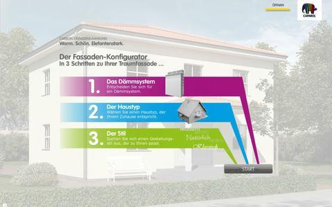 Caparol Fassaden-Konfigurator. Foto: Caparol Farben Lacke Bautenschutz