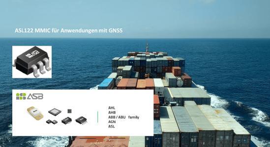 MMIC ASL122 zur Verstärkung von GNSS Anwendungen