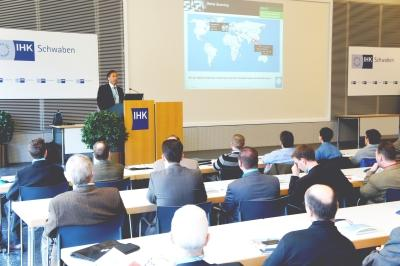 Jürgen Heimbach, CEO of the CADENAS GmbH, presented the latest strategies of the software developer from Augsburg at the 12th Industry Forum in 2011