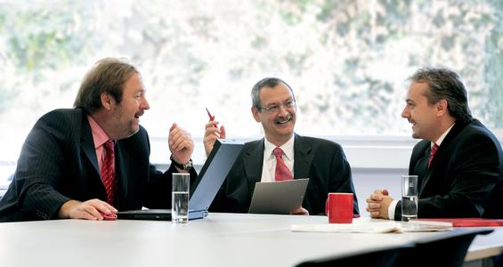 Vorstandsmitglieder der oxaion ag: v.l.n.r. Gerhard Kunkel, Dieter Eisele und Uwe Kutschenreiter