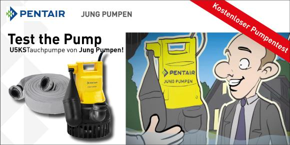test the pump pentair jung pumpen gmbh pressemitteilung. Black Bedroom Furniture Sets. Home Design Ideas