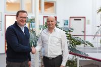 (v.l.n.r.): Herr Dr. Michael P. Schmitt (Geschäftsführer STW), Herr Mario Tolj (Geschäftsführer MTCON)