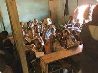 Development project slum school in Kenya