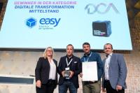 Easy wins award for digital transformation in medium- sized companies