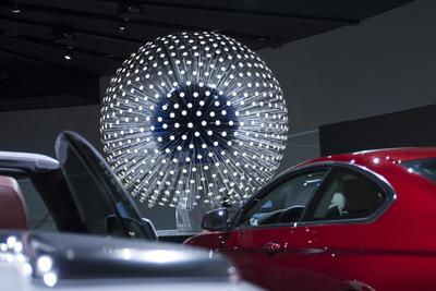 "OLED installation ""Dandelion"" at BMW museum"