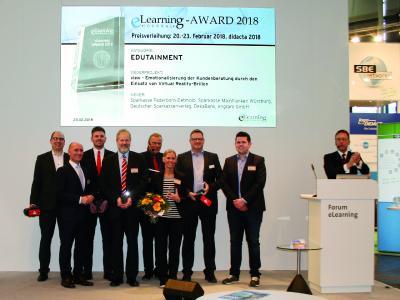 Preisverleihung didacta 2018 view Kategorie Edutainment
