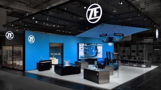 KECK - perfectly realized, the exhibition stand for ZF at the HMI 2018.