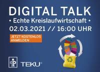 """Pöppelmann TEKU® lädt die Grüne Branche ein zum """"Digital Talk – Echte Kreislaufwirtschaft"""" mit kompakten Impulsvorträgen und der Gelegenheit zum Austausch mit Experten per Chat"""