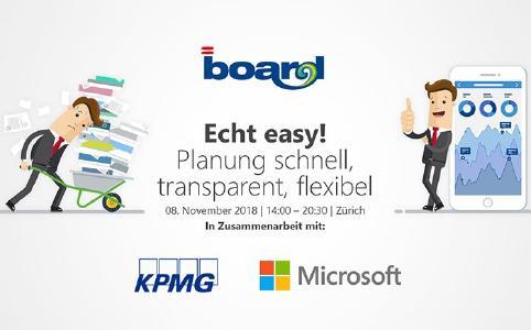 BOARD, KPMG und Microsoft laden ein: Echt easy! Planung schnell, transparent, flexibel!