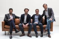 Von Links nach Rechts: Vincent Luciani (Guppen COO & Frankreich CEO), Guillaume de Roquemaurel (Gruppen CEO), Philippe Rolet (Gruppen CTO) and François de la Villardière (Chairman of the Board of Directors)