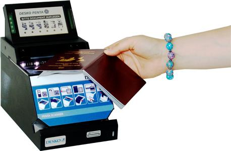Fast and easy to use, the DESKO PENTA Scanner ID Terminal is the newest DESKO PENTA Scanner.