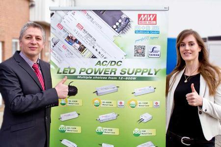 V.Ienea und T.Küsell präsentieren Mean Well LED-Netzteile